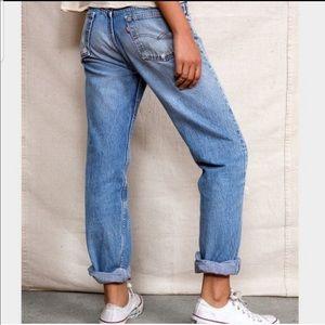 VINTAGE 514 LEVI's jeans distressed boyfriend torn